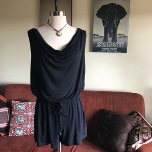 Mossimo Black Sleeveless Shorts Romper Size M